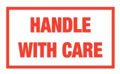 Handle with care vinyl 55x30mm