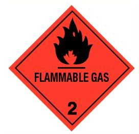 Flammable gas (2) vinyl 300x300mm
