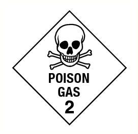Poison gas (2) vinyl 300x300mm