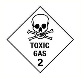 Toxic gas (2) vinyl 300x300mm