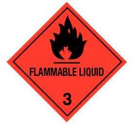 Flammable liquid (3) vinyl 300x300mm