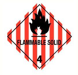 Flammable solid (4) vinyl 300x300mm
