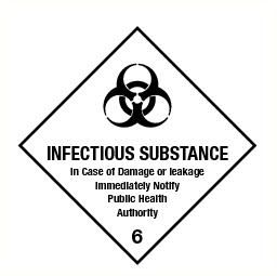 Infectious substance (6) vinyl 300x300mm
