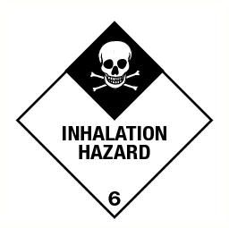 Inhalation hazard (6) vinyl 300x300mm